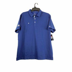 Nike Golf Mens Blue Collared Pullover Polo Shirt L